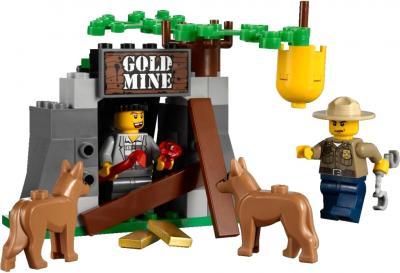 Сборная игрушка, конструктор Lego City Фургон для полицейских собак (4441) - захват преступника