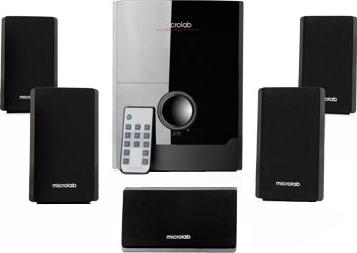 Мультимедиа акустика Microlab M 500 5.1 (черный) - общий вид