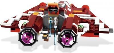 Конструктор Lego Star Wars Республиканский атакующий звёздный истребитель (9497) - вид истребителя сзади
