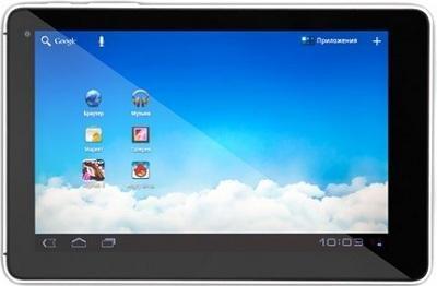 Планшет Huawei MediaPad S7-301u (Silver-Black) - фронтальный вид
