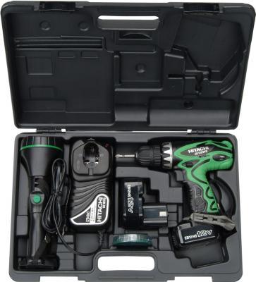 Профессиональный шуруповерт Hitachi DS12DVF3-TB (H-144570) - упаковка