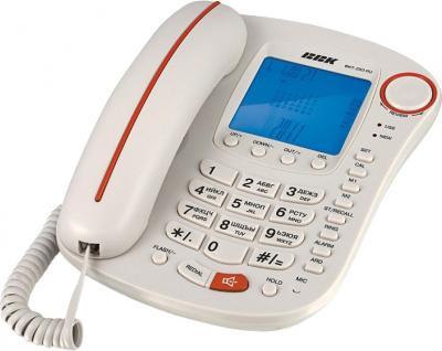 Проводной телефон BBK BKT-253 RU White-Orange - общий вид
