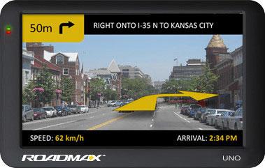 GPS навигатор Roadmax Uno - вид спереди