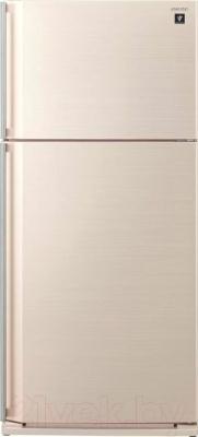 Холодильник с морозильником Sharp SJ-SC55PVBE - вид спереди