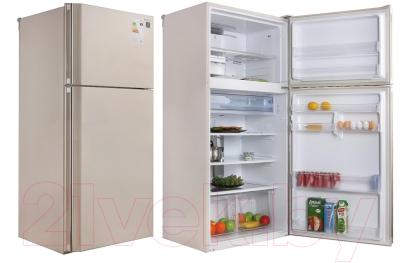 Холодильник с морозильником Sharp SJ-SC55PVBE
