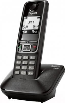 Беспроводной телефон Gigaset A420 (Black) - общий вид