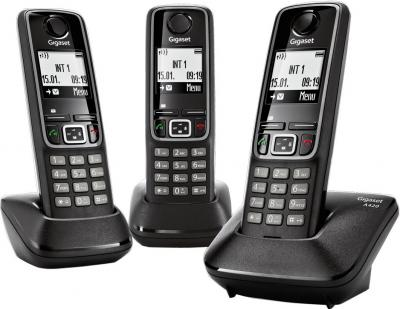 Беспроводной телефон Gigaset A420 Trio  (Black) - общий вид