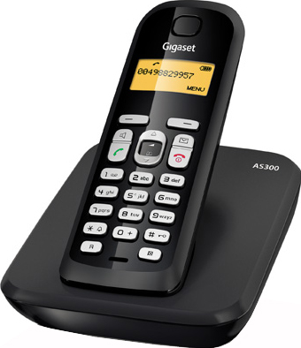 Беспроводной телефон Gigaset AS300 - вид сбоку