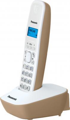 Беспроводной телефон Panasonic KX-TG1611  (бежевый) - общий вид