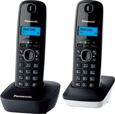 Беспроводной телефон Panasonic KX-TG1612 (серо-белый) - общий вид