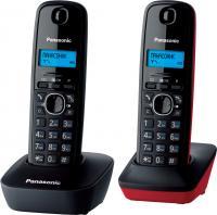 Беспроводной телефон Panasonic KX-TG1612  (серо-красный) -