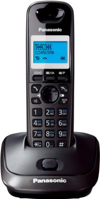 Беспроводной телефон Panasonic KX-TG2511 (темно-серый) - вид спереди