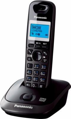 Беспроводной телефон Panasonic KX-TG2511 (темно-серый) - вид сбоку