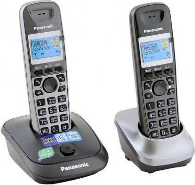 Беспроводной телефон Panasonic KX-TG2512 (темно-серый металлик) - общий вид