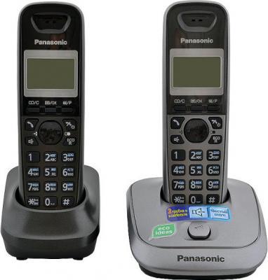 Беспроводной телефон Panasonic KX-TG2512  (черный) - общий вид