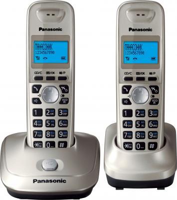 Беспроводной телефон Panasonic KX-TG2512 (платиновый) - общий вид