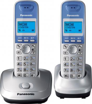 Беспроводной телефон Panasonic KX-TG2512  (серебристый) - общий вид