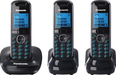 Беспроводной телефон Panasonic KX-TG5513  (Black, KX-TG5513RUB) - общий вид