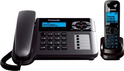 Беспроводной телефон Panasonic KX-TG6461 (титановый) - вид спереди