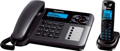 Беспроводной телефон Panasonic KX-TG6461 (титановый) - вид сбоку