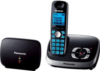 Беспроводной телефон Panasonic KX-TG6541 (черный) - вид сбоку