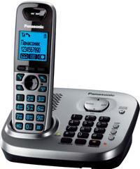 Беспроводной телефон Panasonic KX-TG6551 (серый металлик) - общий вид