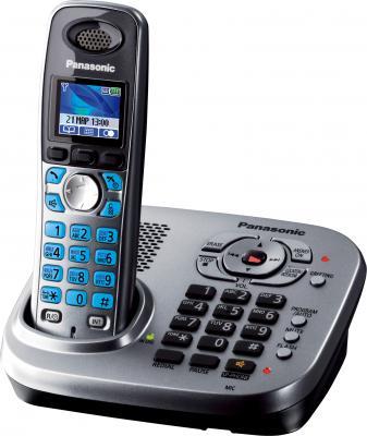 Беспроводной телефон Panasonic KX-TG8041 (серый металлик) - общий вид