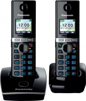 Беспроводной телефон Panasonic KX-TG8052 (черный) - общий вид