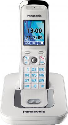 Беспроводной телефон Panasonic KX-TG8411 (White (KX-TG8411RUW)) - общий вид