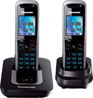 Беспроводной телефон Panasonic KX-TG8412 (Titanium, KX-TG8412RUT) - общий вид