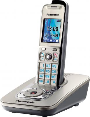Беспроводной телефон Panasonic KX-TG8421  (Platinum, KX-TG8421RUN) - общий вид