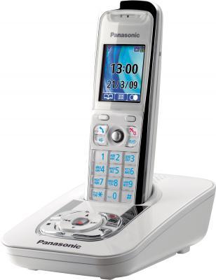 Беспроводной телефон Panasonic KX-TG8421 (White, KX-TG8421RUW) - общий вид