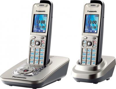 Беспроводной телефон Panasonic KX-TG8422  (Platinum, KX-TG8422RUN) - общий вид