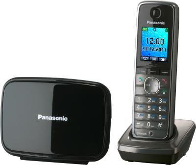 Беспроводной телефон Panasonic KX-TG8611 (серый металлик) - общий вид