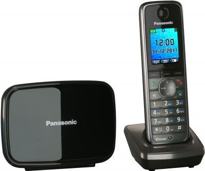 Беспроводной телефон Panasonic KX-TG8611 (серый металлик) - вид сбоку