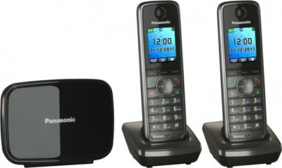Беспроводной телефон Panasonic KX-TG8612  (Metallic Gray, KX-TG8612RUM) - вид сбоку