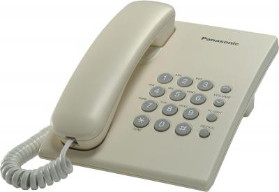 Проводной телефон Panasonic KX-TS2350  (бежевый) - общий вид