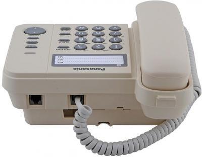 Проводной телефон Panasonic KX-TS2352  (бежевый) - общий вид