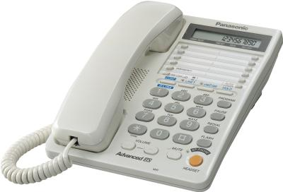 Проводной телефон Panasonic KX-TS2368  (белый) - общий вид