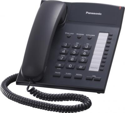 Проводной телефон Panasonic KX-TS2382  (черный) - общий вид