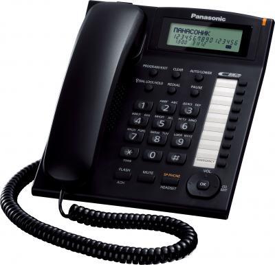Проводной телефон Panasonic KX-TS2388  (черный) - общий вид