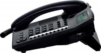 Проводной телефон Panasonic KX-TS2388  (черный) - вид сбоку