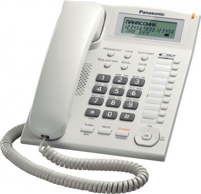 Проводной телефон Panasonic KX-TS2388  (белый) - общий вид