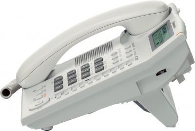 Проводной телефон Panasonic KX-TS2388  (белый) - вид сбоку