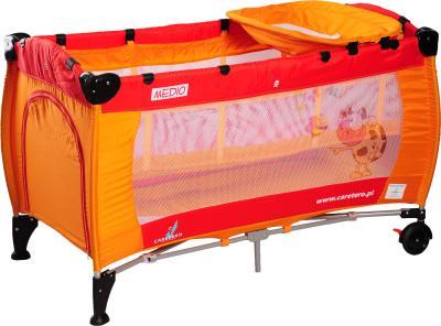 Кровать-манеж Caretero Medio Classic (Orange-Red) - общий вид
