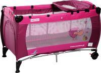 Кровать-манеж Caretero Medio Classic (Rose) -
