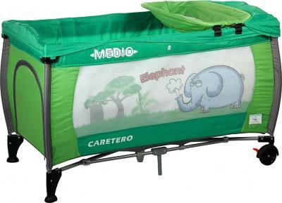 Кровать-манеж Caretero Medio Safari (Green) - общий вид