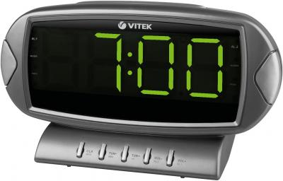 Радиочасы Vitek VT-3512 GY - вид спереди