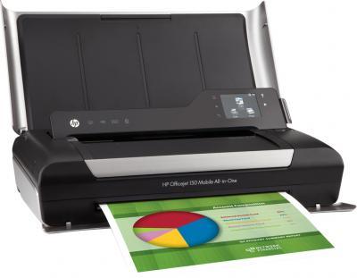 Принтер HP Officejet Mobile All-in-One (CN550A) - общий вид (открытый)