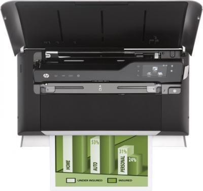 Принтер HP Officejet Mobile All-in-One (CN550A) - вид сверху (открытый)
